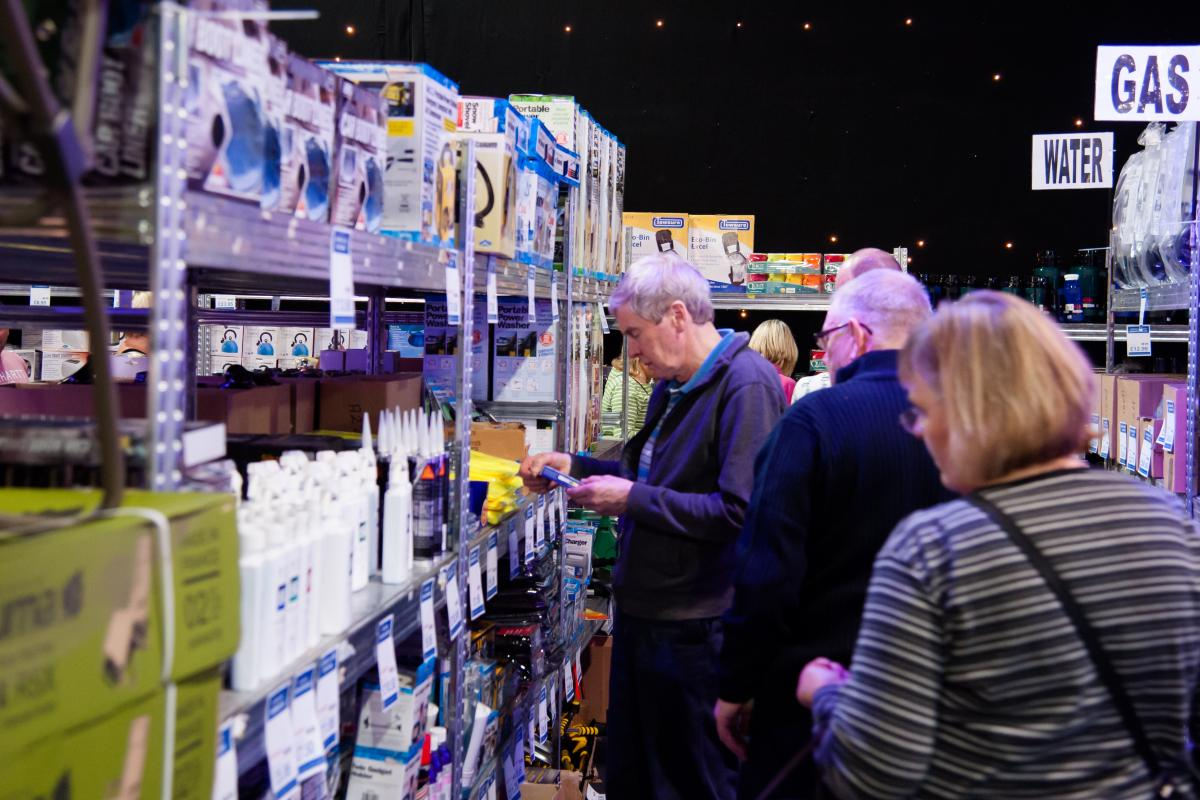 Visitors browsing the latest must-haves for their vehicles